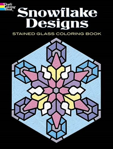Snowflake Designs Stained Glass Coloring Book