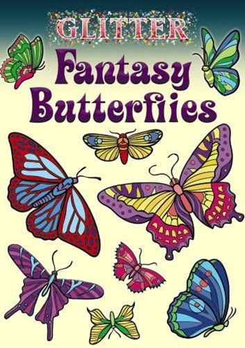 Glitter Fantasy Butterflies Stickers