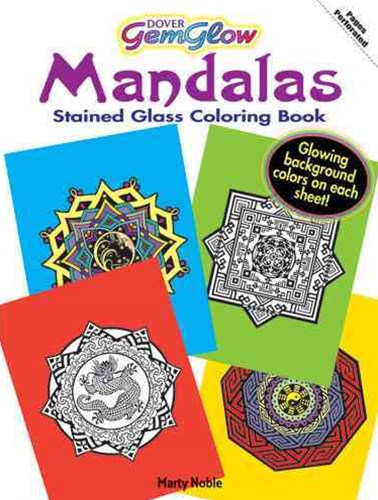 Mandalas GemGlow Stained Glass Coloring Book