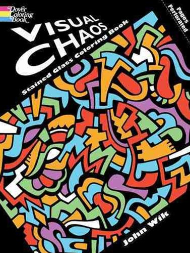 Visual Chaos Stained Glass Coloring Book