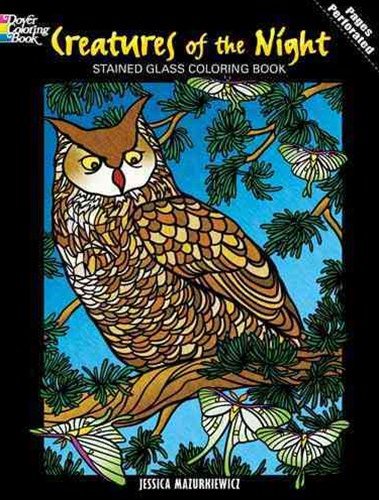 Creatures of the Night Stained Glass Coloring Book