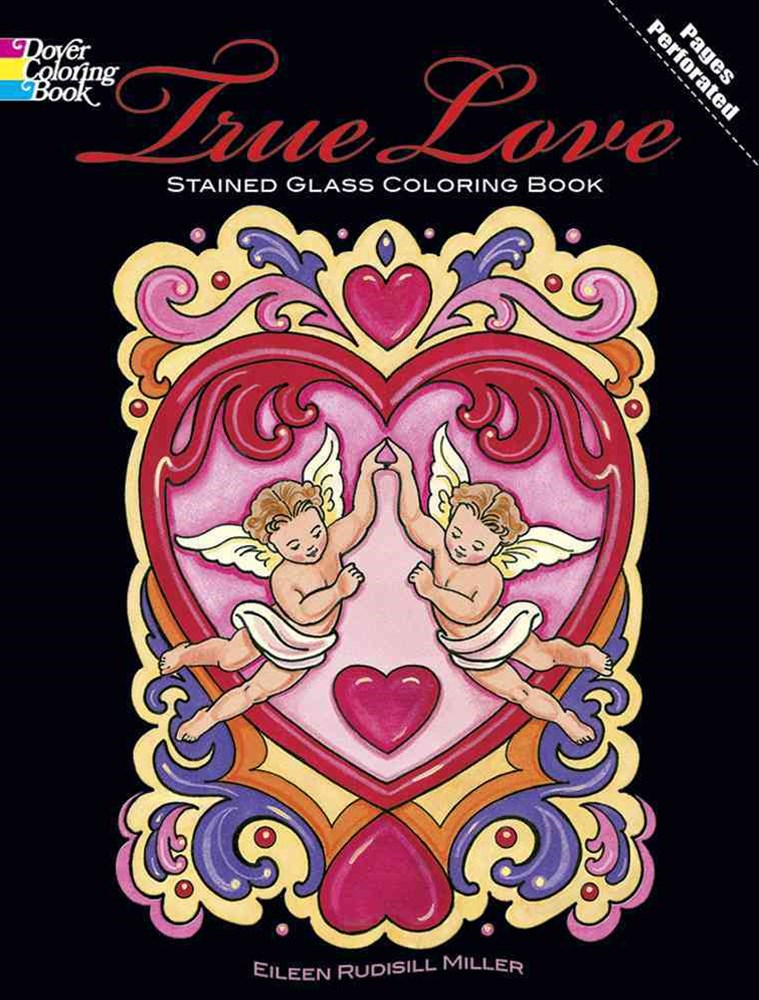True Love Stained Glass Coloring Book