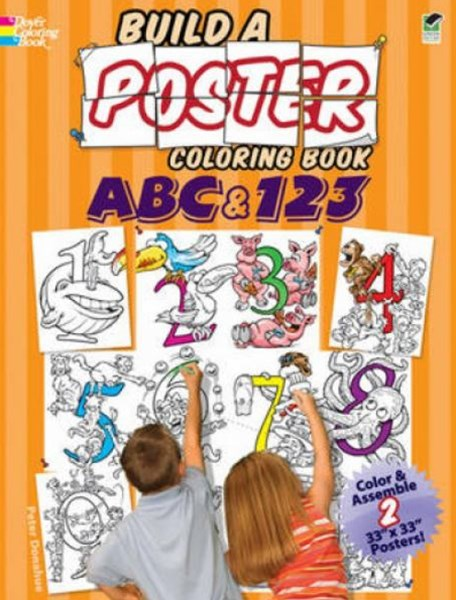 Build a Poster Coloring Book--ABC and 123