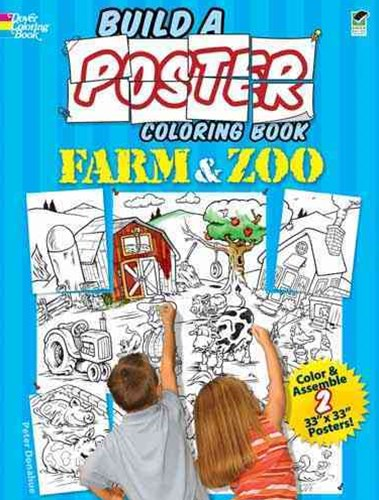 Build a Poster Coloring Book--Farm and Zoo