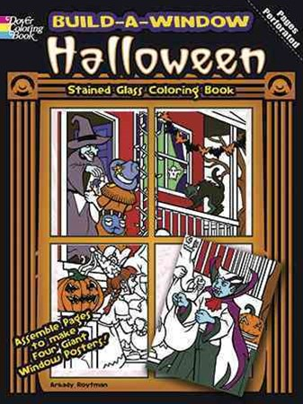 Build a Window Stained Glass Coloring Book--Halloween