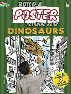 Build a Poster Coloring Book--Dinosaurs