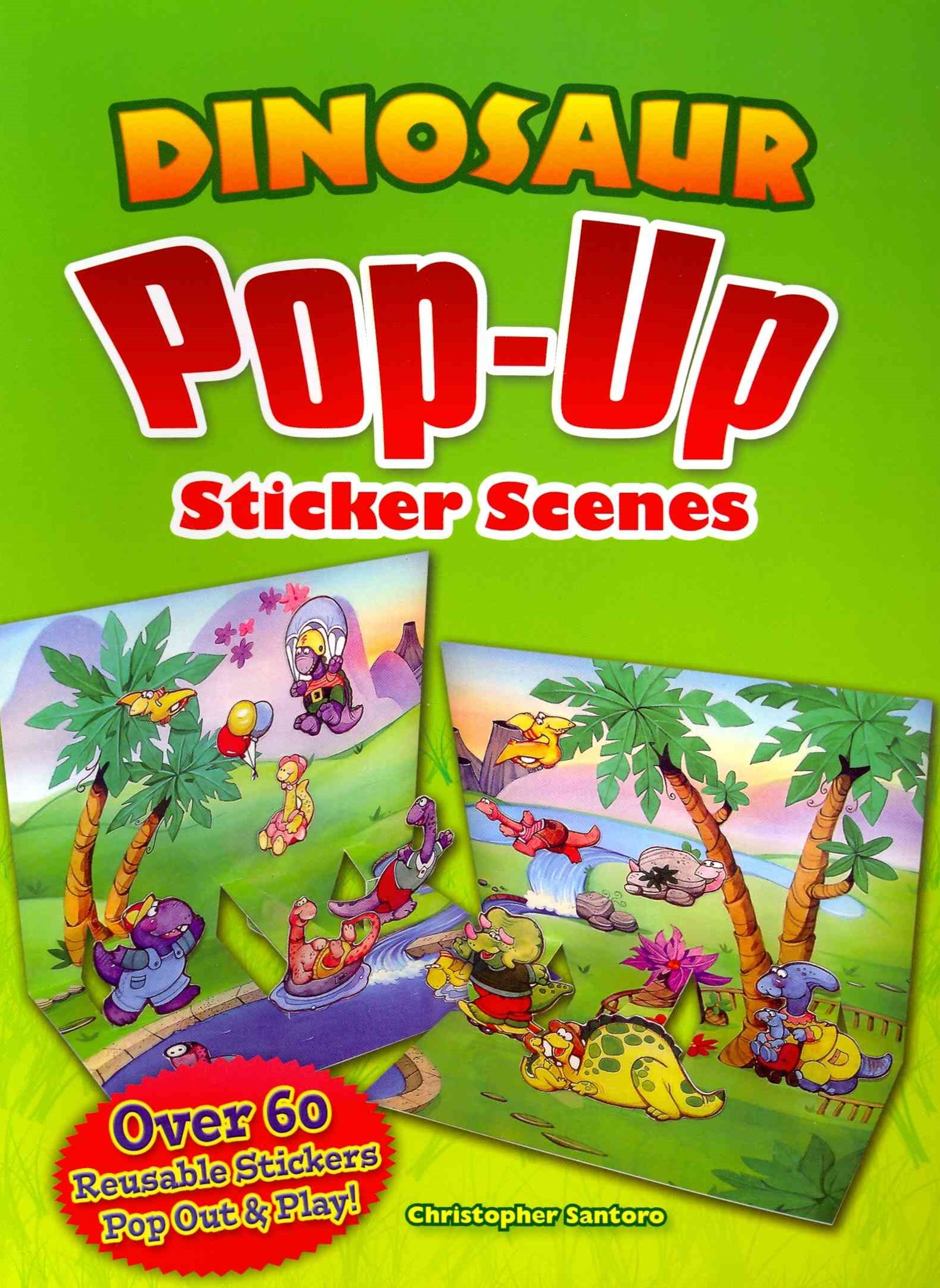 Dinosaur Pop-Up Sticker Scenes