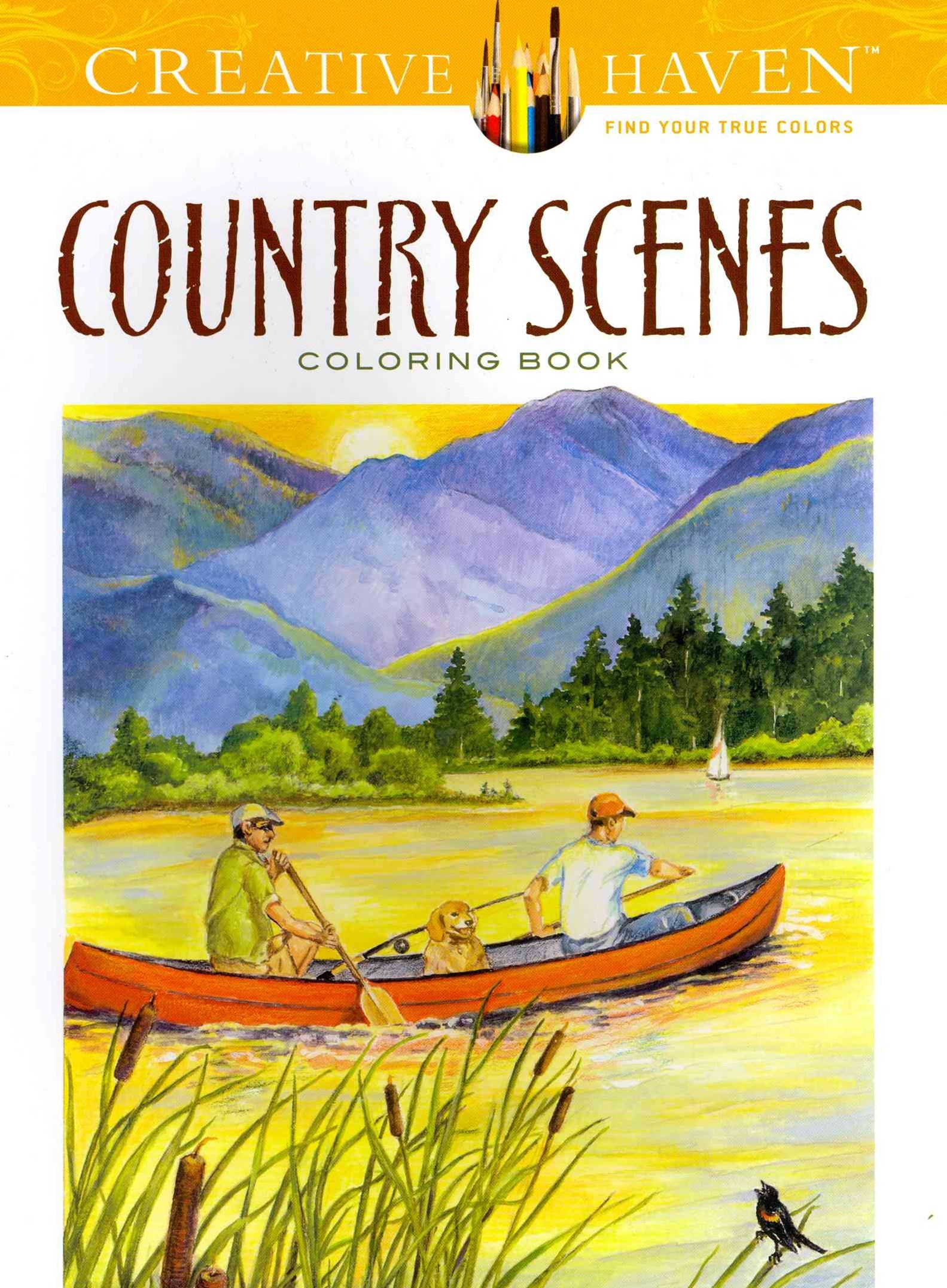 Creative Haven Country Scenes Coloring Book