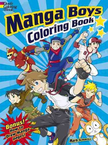 Manga Boys Coloring Book