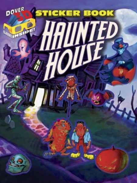 3-D Sticker Book--Haunted House