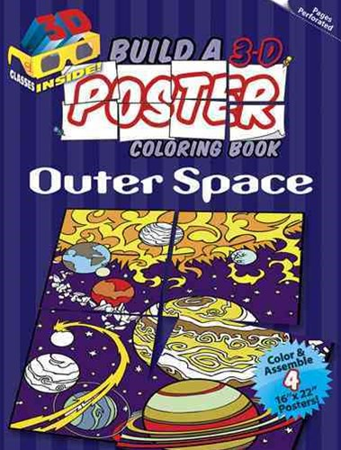 Build a 3-D Poster Coloring Book -- Outer Space
