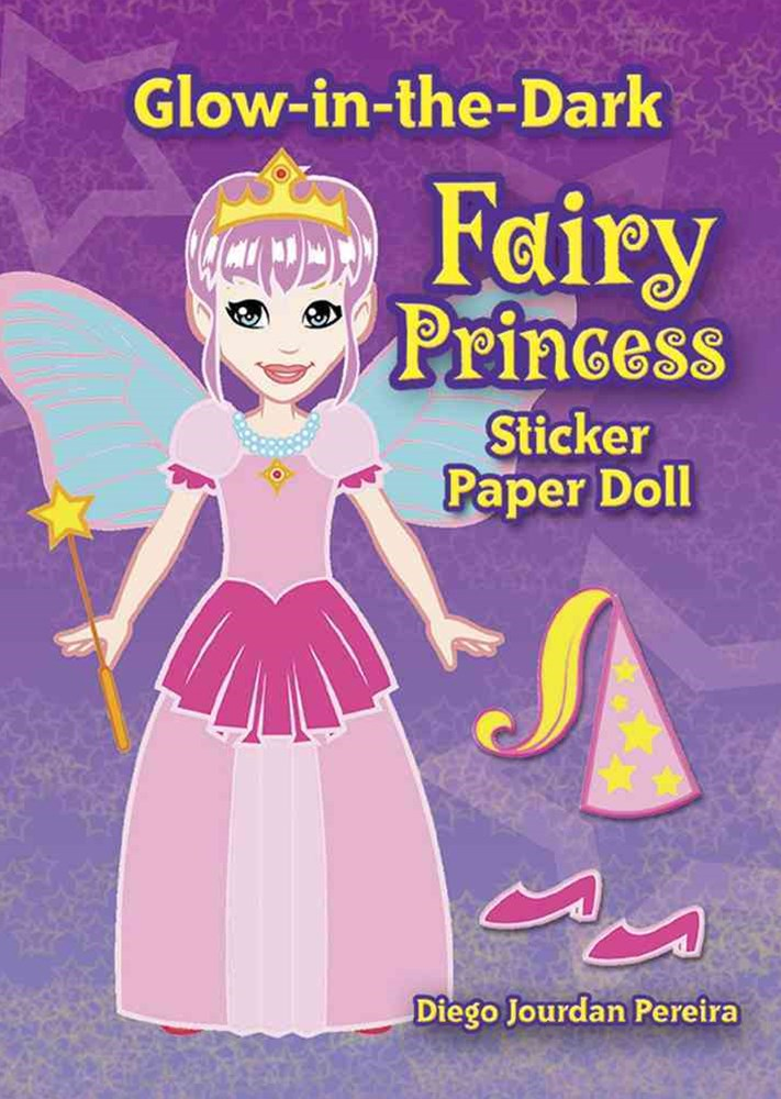 Glow-in-the-Dark Fairy Princess Sticker Paper Doll