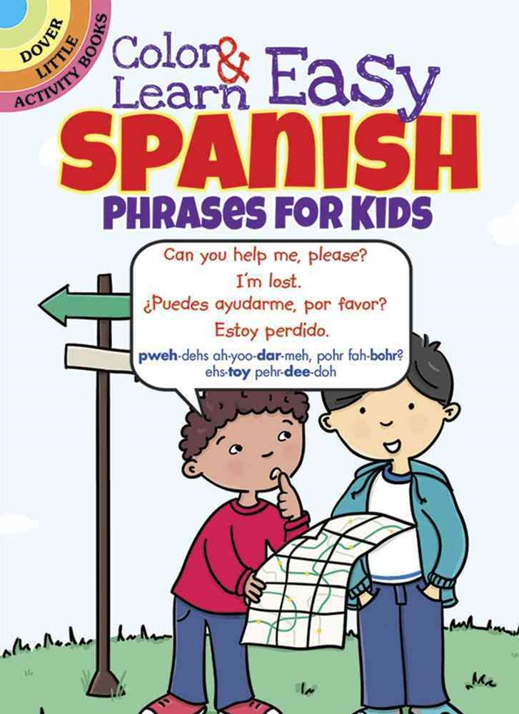 Color and Learn Easy Spanish Phrases for Kids
