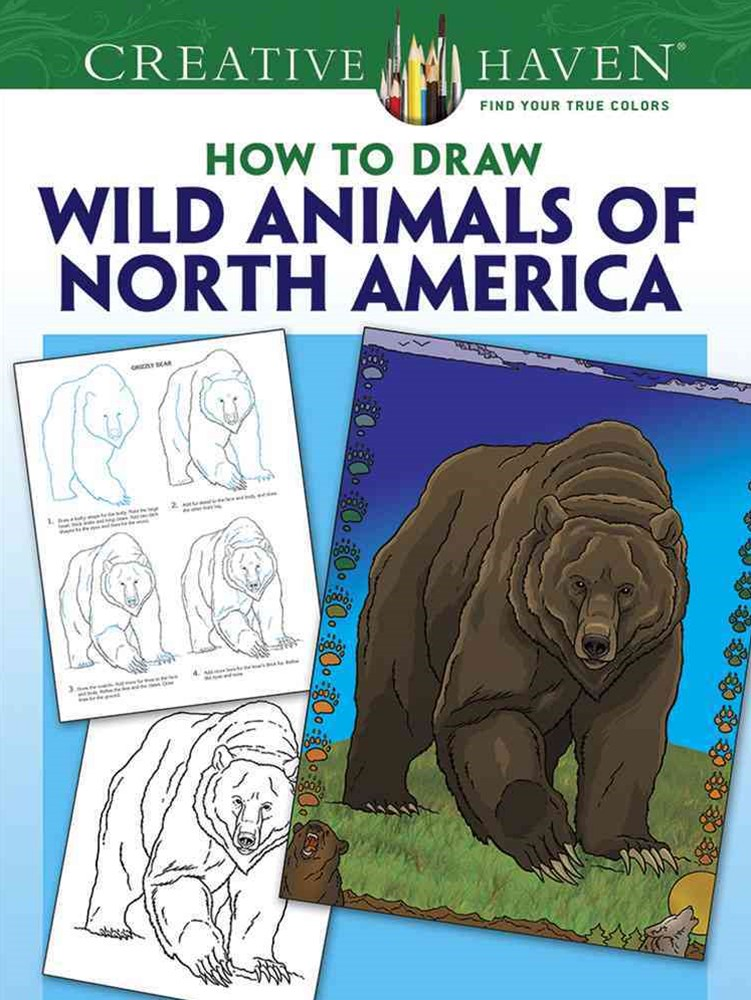 Creative Haven How to Draw Wild Animals of North America