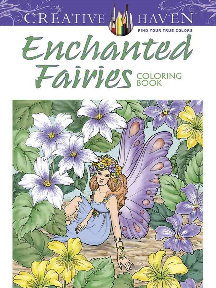 Creative Haven Enchanted Fairies Coloring Book