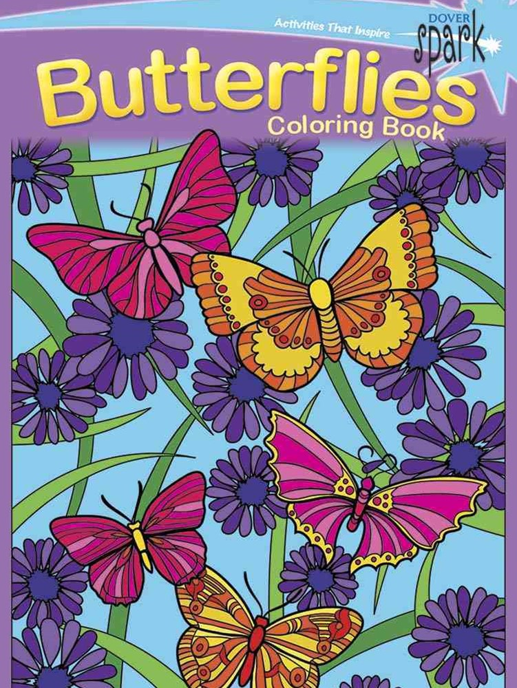 SPARK  Butterflies Coloring Book