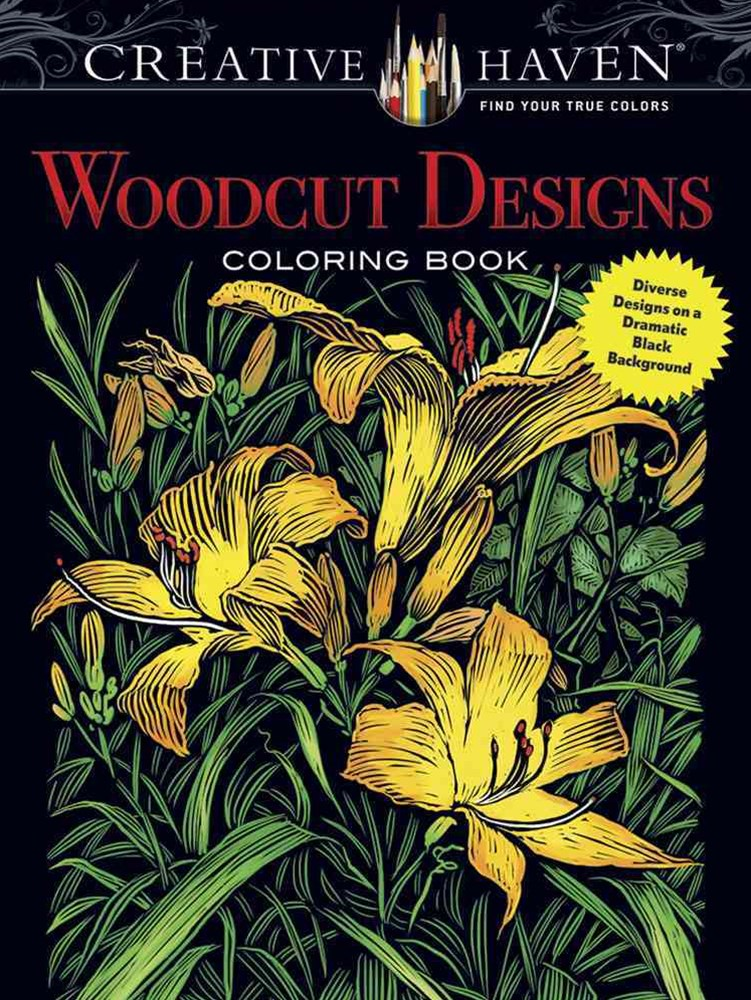 Creative Haven Woodcut Designs Coloring Book