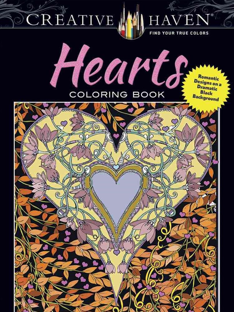 Creative Haven Hearts Coloring Book
