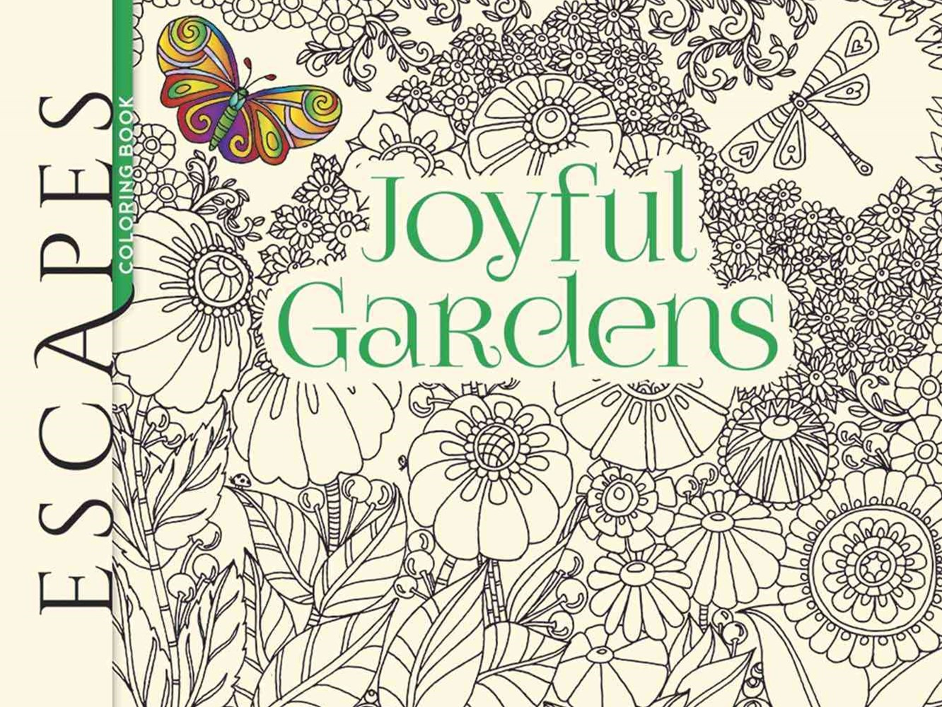 ESCAPES Joyful Gardens Coloring Book