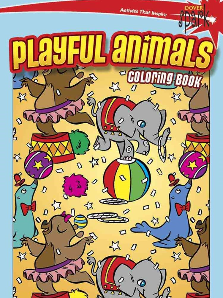 SPARK  Playful Animals Coloring Book