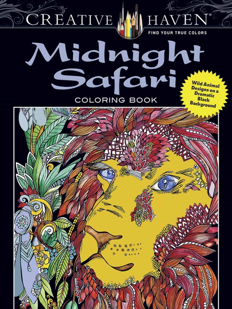 Creative Haven Midnight Safari Coloring Book