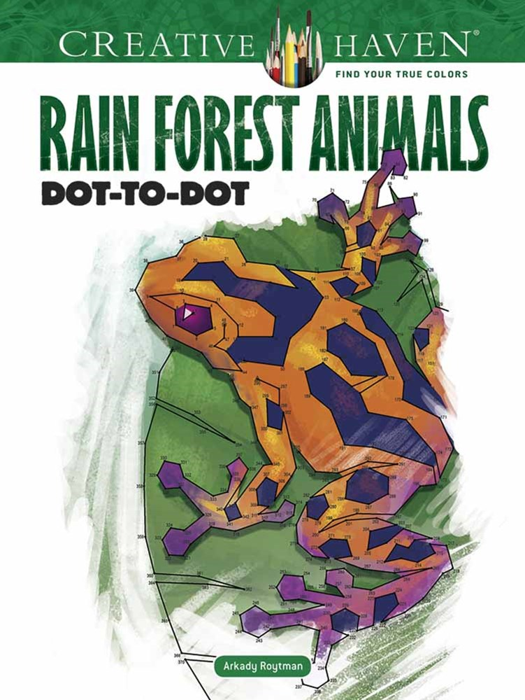 Creative Haven Rain Forest Animals Dot-to-Dot