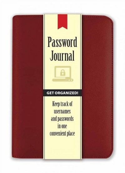 Password Journal: Pomegranate