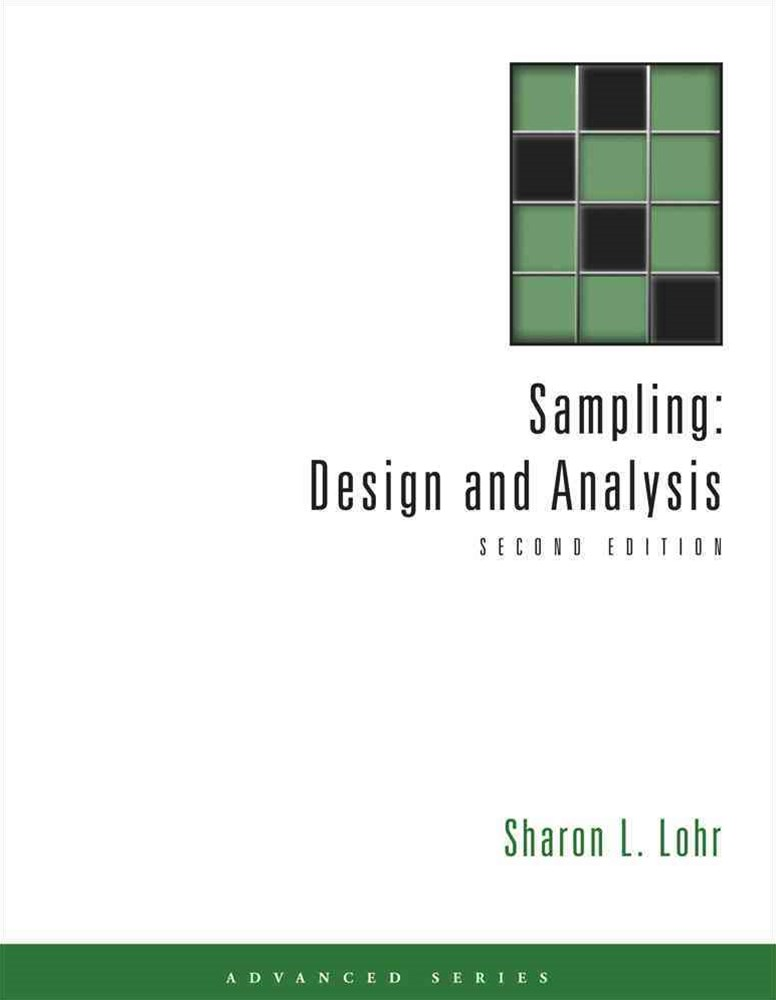 Sampling : Design and Analysis