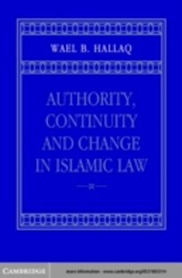 (ebook) Authority, Continuity and Change in Islamic Law