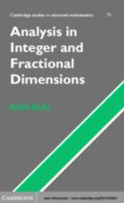 (ebook) Analysis in Integer and Fractional Dimensions