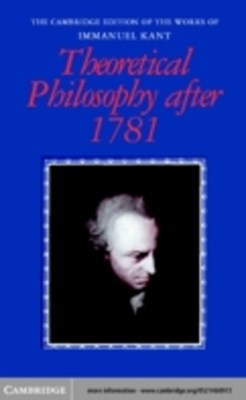 (ebook) Theoretical Philosophy after 1781