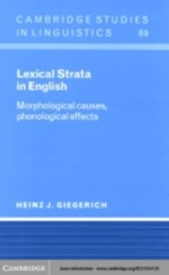 (ebook) Lexical Strata in English