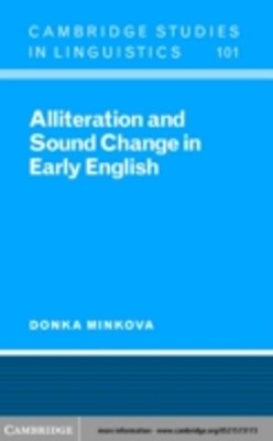 (ebook) Alliteration and Sound Change in Early English