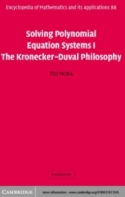 (ebook) Solving Polynomial Equation Systems I