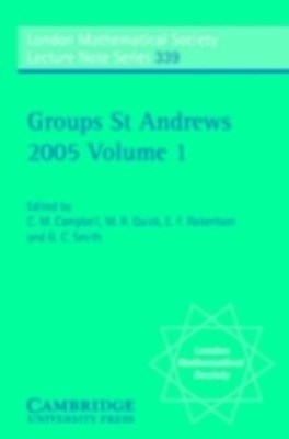 Groups St Andrews 2001 in Oxford: Volume 1