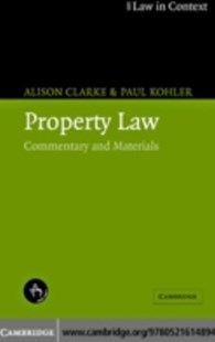 (ebook) Property Law - Reference Law
