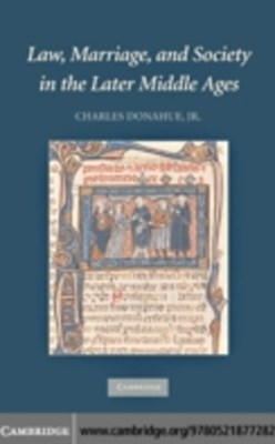 (ebook) Law, Marriage, and Society in the Later Middle Ages