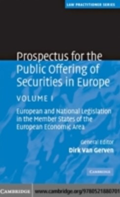 Prospectus for the Public Offering of Securities in Europe: Volume 1