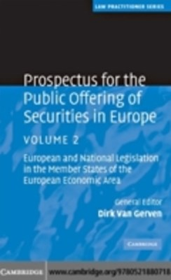Prospectus for the Public Offering of Securities in Europe: Volume 2