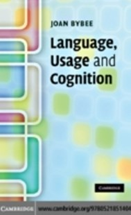(ebook) Language, Usage and Cognition - Reference
