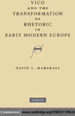 (ebook) Vico and the Transformation of Rhetoric in Early Modern Europe