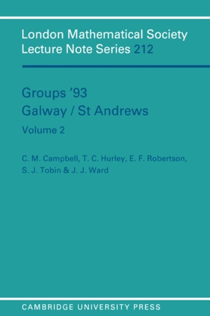 Groups '93 Galway/St Andrews: Volume 2