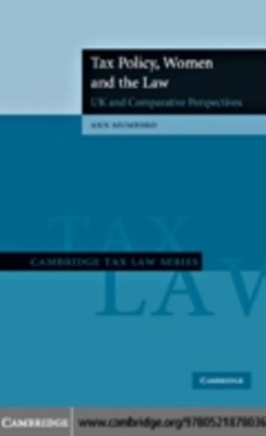 (ebook) Tax Policy, Women and the Law