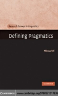 (ebook) Defining Pragmatics