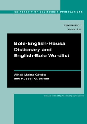 (ebook) Bole-English-Hausa Dictionary and English-Bole Wordlist