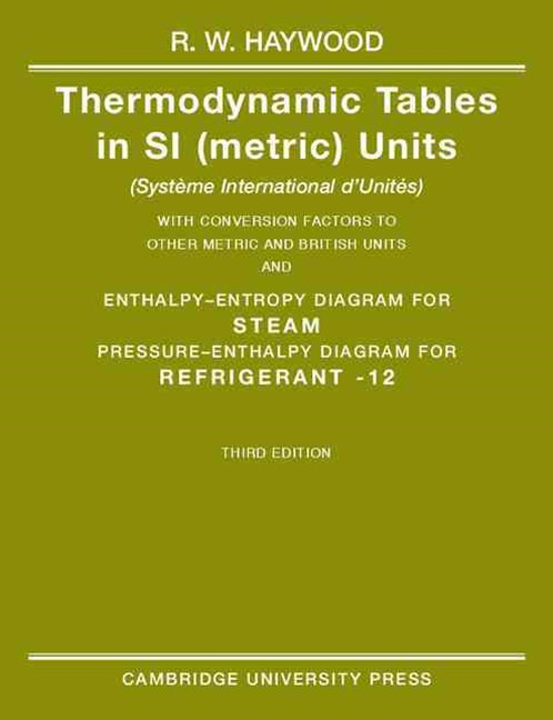 Thermodynamic Tables in SI (Metric) Units