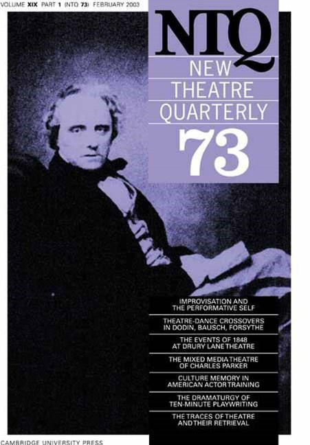 New Theatre Quarterly 73: Volume 19, Part 1