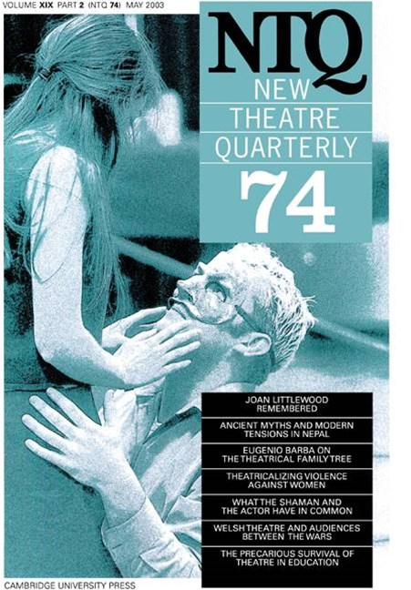 New Theatre Quarterly 74: Volume 19, Part 2