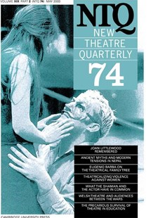 New Theatre Quarterly 74: Volume 19, Part 2 by Simon Trussler, Clive Barker (9780521535892) - PaperBack - Poetry & Drama