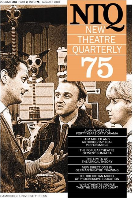 New Theatre Quarterly 75: Volume 19, Part 3